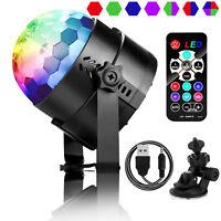 Car Disco DJ Bar Stage LED RGB Laser Mini Crystal Ball Lamp Light Xmas Party US