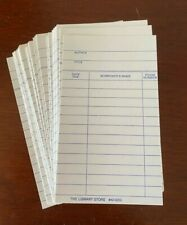 Library Borrower's Check Out Cards - unused - new -  double sided - lot of 100