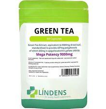Green Tea 9000mg high strength fat burner weight loss 60/capsules Lindens