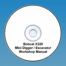 BOBCAT X320 MINI Digger workshop e parti manuale