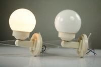 Art Deco Wandlampen Paar NOS Glaskugel Bakelit Leuchten DRGM Vintage 30er 40er