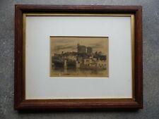 Windsor Castle,  Signed Etching Llewellyn Petley-Jones, 1974. Listed.