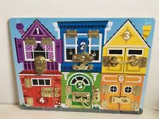 Melissa & Doug Latches Board Educational Numbers Toy Puzzle Locks Animals