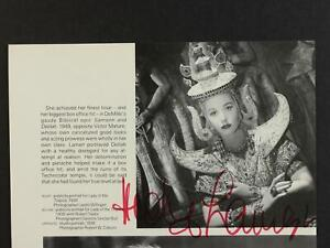 HEDY LAMARR (1914-2000) (BOON TOWN~SAMSON and DELILAH) AUTOGRAPH PHOTO~