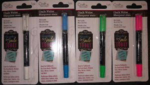 4pk Craft Decor Chalk Writer Markers White,Blue,Green,Pink