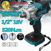 "Cordless Brushless Impact Wrench 18V 520Nm 1/2"" Body For Makita Battery DTW285Z"
