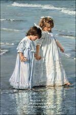 Sandra Kuck MY SISTER, MY FRIEND 20x16 SOLD OUT art print, two sisters at beach