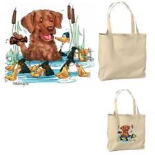 Chesapeake Bay Retriever Water Dog Cartoon Artist Canvas Market Grocery Tote Bag
