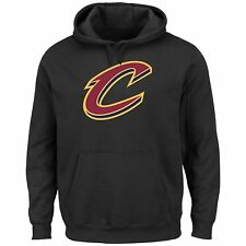 Cleveland Cavaliers NBA Tek Patch Hooded Sweatshirt Black X-Large