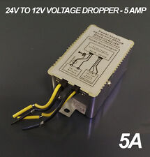 24v To 12v DC Step Down Voltage Reducer Dropper 5A Max Current - Truck - Lorry