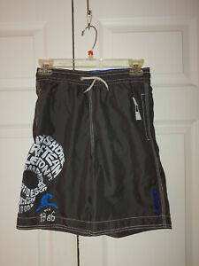 New Youth Boy Gap Gray Monster Waves Surf Bathing Suit Swim Trunks Size L/10