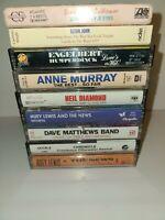 Vintage Lot Of 9 Rock Pop Cassette Tapes