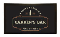 PERSONALISED BAR MAT CUSTOM RUNNER GIFT NOVELTY FUNNY BEER PUB BISTRO