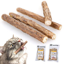 20pcs Stick Treat Molar Polygama Natural Pet Cat Toy Chew Bag Catnip for Kitten