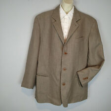 Pal Zileri mens wool bl Italian blazer jacket 46 beige brown