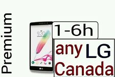 Unlock Code LG G5 G6 G4 G3 Stylo Bell Virgin Roger fido Koodo Wind Telus CANADA