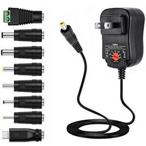 12W Universal Adjus AC/DC Power Adapter 6V 9V 12V Power Supply Plug Charger US