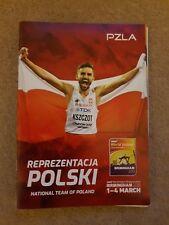 2018 Polonia campeonatos del mundo indoor de Atletismo guía de medios de equipo