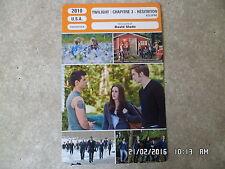CARTE FICHE CINEMA 2010 TWILIGHT CHAPITRE 3 HESITATION Kristen Stewart