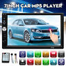 7'' 2 DIN Touch Screen Car Radio Audio Mirror Link BT Stereo MP5 Player FM TF US
