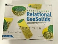 Transparent Relational Geo Solids Learning Resources LER0918 Math Concepts NIB