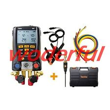 TESTO 557 Digital Manifold kit with Bluetooth External Vacuum Gauge 0563 1557