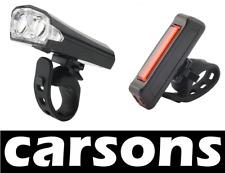 2 LED anteriori e posteriori Rosso COB USB ricaricabile BICICLETTA Luci Set Kit Mountain carsons
