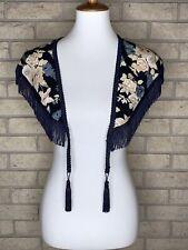 Nwt Vtg Deadstock El & Company Floral Print Fringe Stole/Scarf Jc Penny Retro