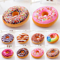 Cute Donuts Shape Throw Pillow Case Doughnuts Cushion Covers Home Decor Colorful