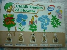 "1979 ""Child's Garden of Flowers"" - Texize (Display Card Format) 5 Seed Sampler"