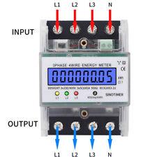 3-Phasen 4-Draht Drehstromzähler Stromzähler Zwischenzähler Wechselstromzähler ~
