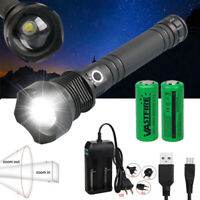 XHP70.2 1500 lumens Tactical LED Flashlight Rechargeable USB zoomable defense