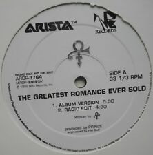 "12"" US**PRINCE - THE GREATEST ROMANCE EVER SOLD (ARISTA '99 / PROMO)**28365"