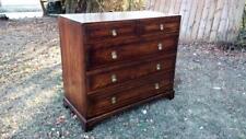Vintage Jamestown Lounge Feudal English Oak 4 Drawer Chest w/ Heavy Brass Pulls