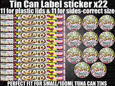 GELATO Cali Tin Labels Stickers Marijuana weed RX Medical Cannabis 100ml can