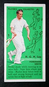 Vintage Tennis Technique  Forehand Drive  Harry Lee   Original 1935 Small Card