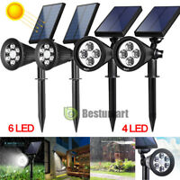 4/6 LED Solar Garden Lamp Spot Light Outdoor Lawn Landscape Spotlight Lighting