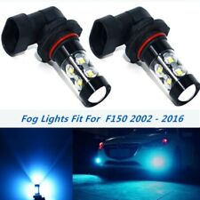2x 100W LED Fog Lights Bulbs for Ford F150 2002 - 2016 8000k Ice Blue Lamp