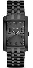 New Caravelle New York Men's Dress Black Ion Stainless Steel Watch 45A117