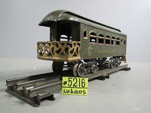 Lionel Manufacturing  NYC Lines OBSERVATION Car 36  Dark Green Prewar  STANDARD.