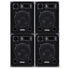 "10"" Passive Bedroom DJ Speaker Set Woofer Disco Party Full Range 8 Ohm 1000W"