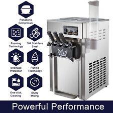 Vevor Commercial Soft Serve Ice Cream Maker47 Gallon Per Hr Counter 3 Flav
