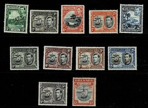 GRENADA 1938 SET 10s IS p12 X 13 MOUNTED MINT