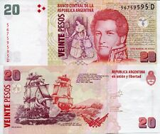 ARGENTINA 20 Pesos Banknote Paper Money World UNC Currency BILL p355 2003? Bill