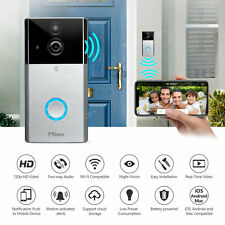 Smart Wireless WiFi Ring Doorbell Video Camera Phone Intercom Home Cloud storage