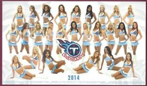 """Tennessee Titans 2014 Cheerleaders, 11"""" x 6 1/2"""" Color Photocard"""