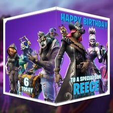Fortnite Birthday Card Season 6 Personalised Any Name, Age or Relation 14x21