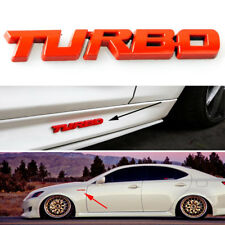 Red Car Auto Metal 3D Turbo Letter Emblem Badge Logo Sticker Decal Fender Body