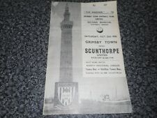 GRIMSBY TOWN  v  SCUNTHORPE UNITED   1958/9  ~  OCT 25   LINCOLN SHIRE   DERBY