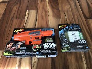 Nerf Star Wars Dart Blaster Gun Rogue One Captain Cassian Andor 2015 Glow Strike